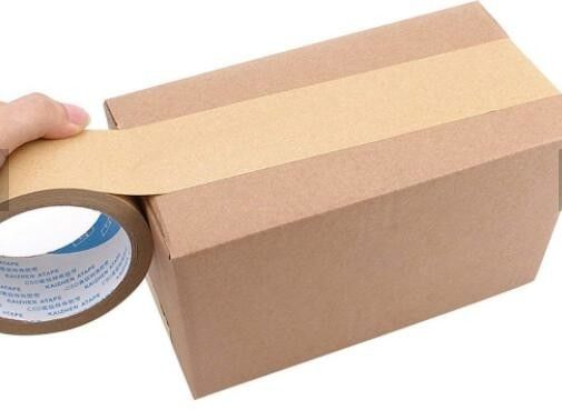 Heavy Packing Scotch Tape Label / Gummed Tape Kraft With PE Coated
